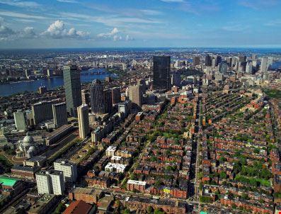 Veduta aerea di Boston