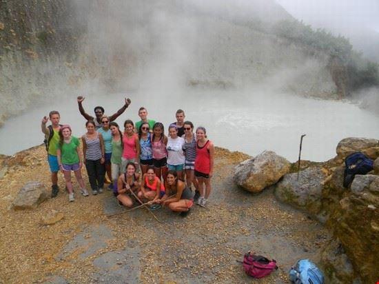Hiker at Boiling Lake