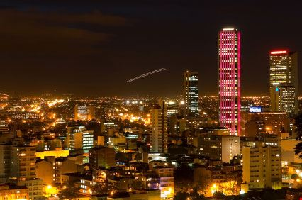 Bogotá di notte