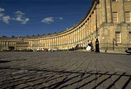 Photo Piazzale con palazzo in Bath - Pictures and Images of Bath