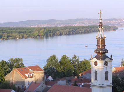 Panorama di Belgrado sul Danubio