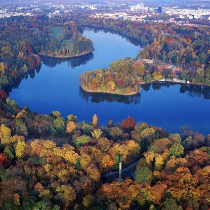 Veduta aerea del fiume Danubio