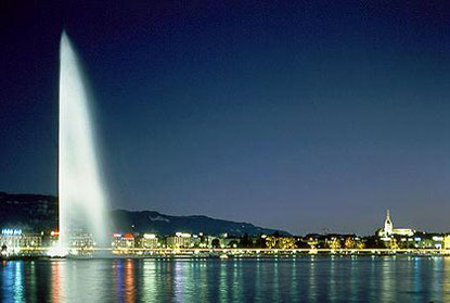 Photo geneva lago di notte in Geneva - Pictures and Images of Geneva