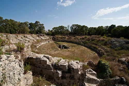 Amphith tre romain syracuse monuments et edifices for Hotel 1823 siracusa