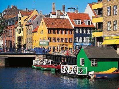 Veduta parziale del quartiere di Christianshavn