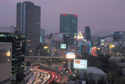 Photo Panoramica notturna della Città del Messico in Mexico City - Pictures and Images of Mexico City