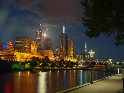 Photo Melbourne by night in Melbourne - Pictures and Images of Melbourne