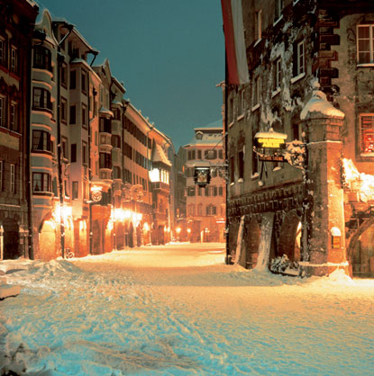 Photo innsbruck strade in inverno in Innsbruck - Pictures and Images of Innsbruck 