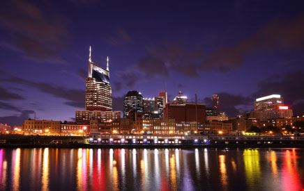Veduta notturna di Nashville