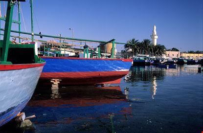 Porto di pescatori a Hurgada