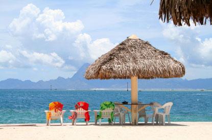 Foto spiaggia tropicale a tahiti 415x275 autore for Disegni di casa sulla spiaggia tropicale