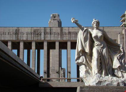 Vista del Monumento Lola Mora Square