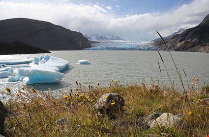 Il lago e i ghiacciai