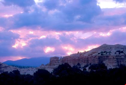Montagne all'alba