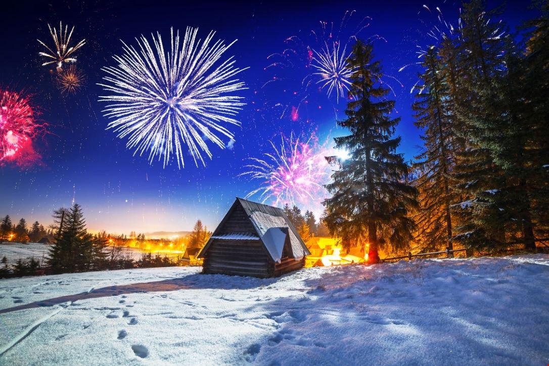 Montagna fuochi d'artificio