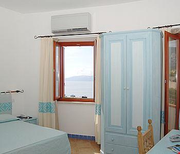 Camera doppia con vista mare