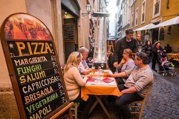 Pizza nel centro storico