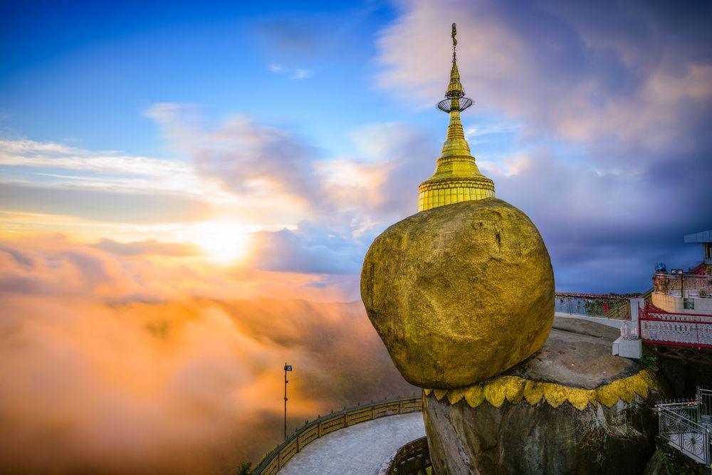 Golden Rock in Birmania