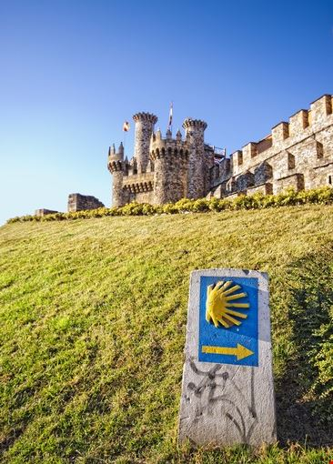 Castello di Ponferrada lungo il Cammino