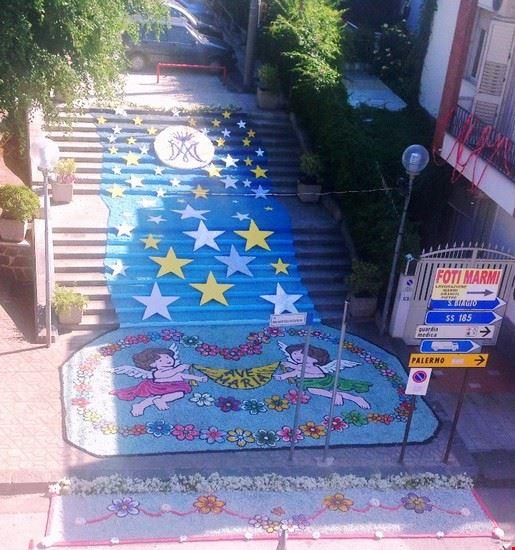 infiorata scalinata 15 settembre 2014