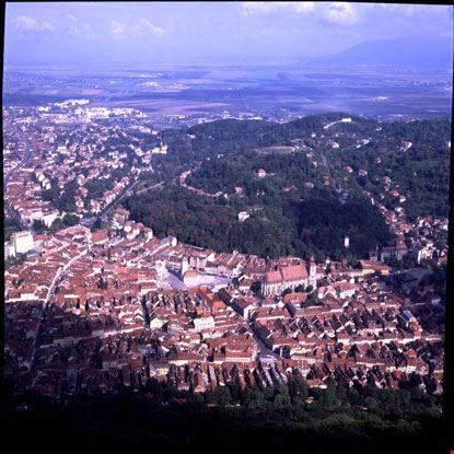 brasov vista aerea del paesaggio