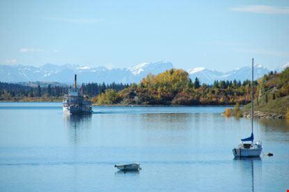 calgary barche nel lago