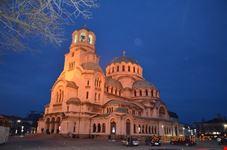 Cattedrale Alexander Nevsky di sera