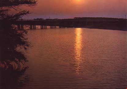 Bocca di Cecina, tramonto