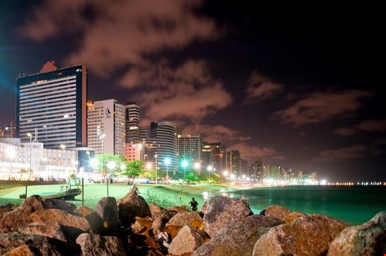 fortaleza fortaleza at night