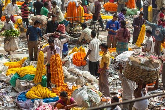 calcutta mercato dei fiori