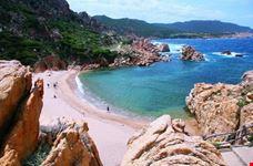 Splendido panorama della spiaggia