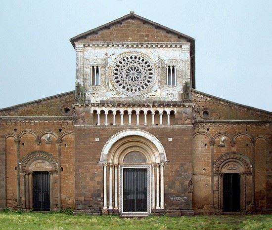 109868 tuscania basilica di san pietro a tuscania