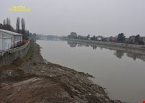 Il Tanaro dal nuovo ponte Meier (arch. Richard Meier)