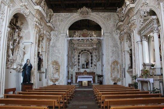 Foto L 39 Interno Della Chiesa Del Rosario Xviii Sec Con I