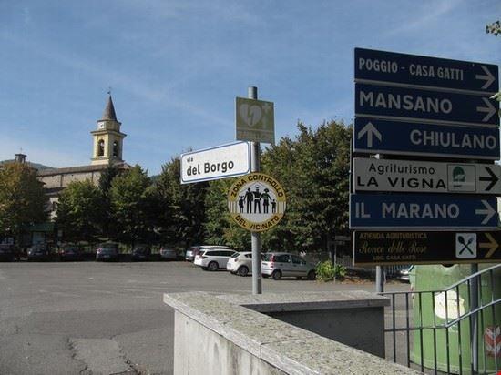 Inizio del paese Carmiano e Chiesa