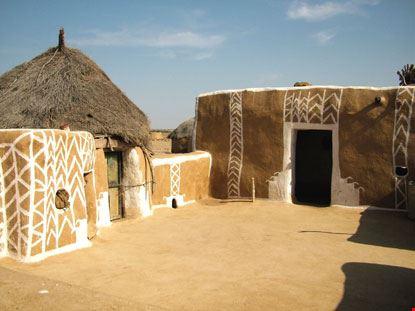 jaisalmer interno di una casa