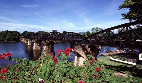 bridge over the river khwai