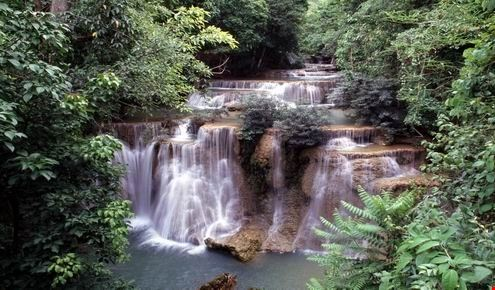 huai khamin waterfall in the sri nakharin National park