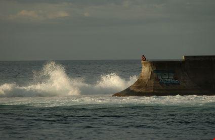 papeete sitting on the ocean