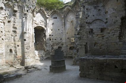 Water-chamber at the ruins of an old castle
