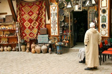 Traditional Arab shopping center