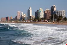 Cityscape and beach of Durban