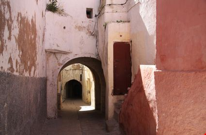 Street in old medina of Safi in Morocco