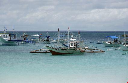 Boats in ocean