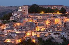 City of Ragusa at dusk