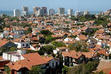 mar del plata view of city near atlantic ocean