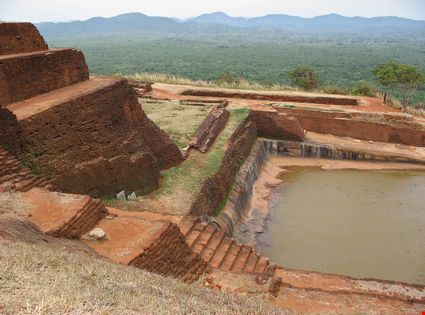 Ruins in Sigiriya rock