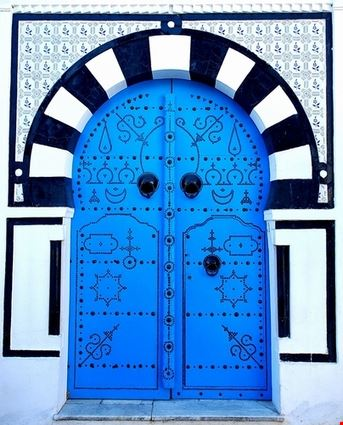 Decorated Mediterranean Door