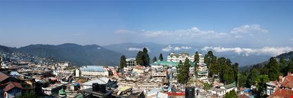 Panoramic photo of Darjeeling