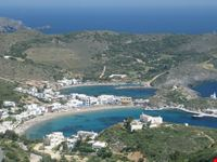 kythira aerial view of the kapsali bays